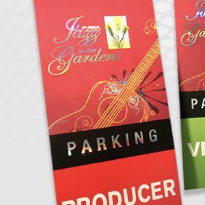 Hot Foil Stamped Jazz Parking Passes