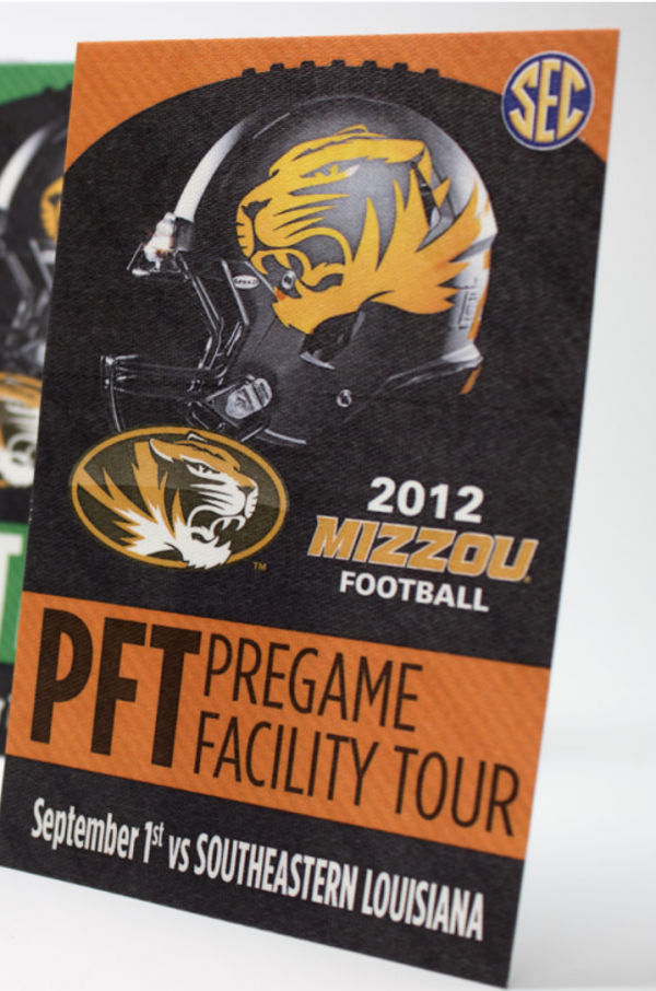 Mizzou Football Satin Stick On Passes