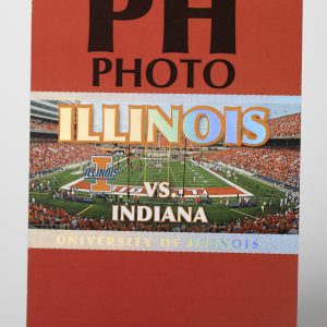 Uni of Illinois Hot Foil Stamped Photo Hang Tag