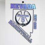 Hot Stamp Foiled Nevada Shaped Sports Credential