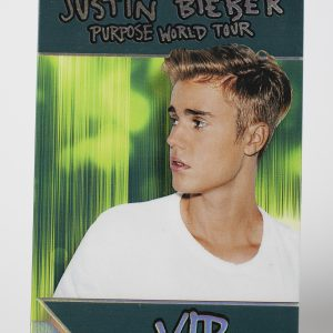 Justin Bieber Hot Foil Stamped Tour Laminate
