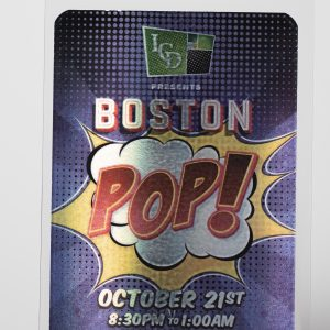 Boston POP! Pouched Star Laminate