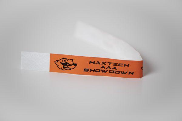 Orange Custom Tyvek Wristbands