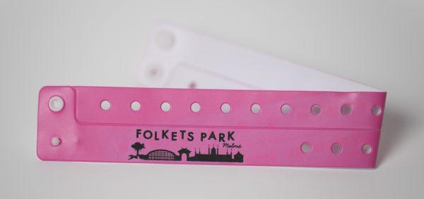 Pink Vinyl Custom Wristbands