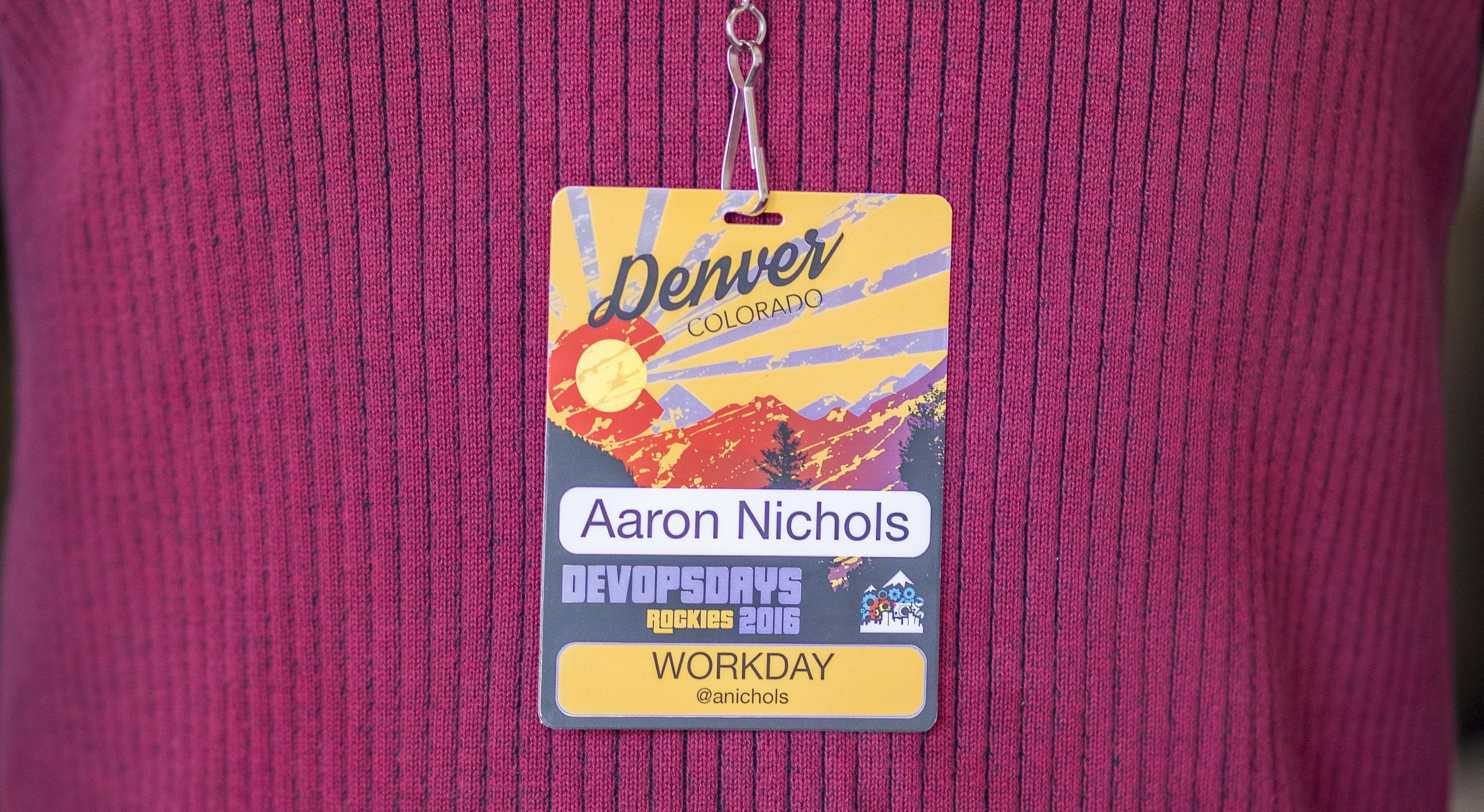 Devops Days Hot Stamped Foiled Conference Badge
